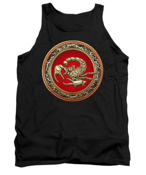 Treasure Trove - Sacred Golden Scorpion On Black Tank Top
