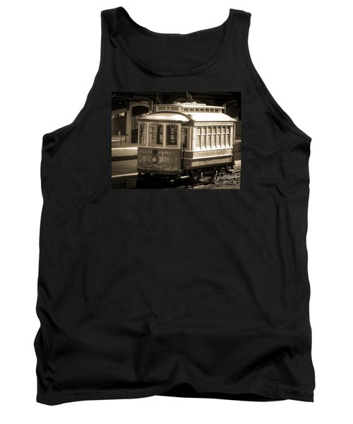 Tank Top featuring the photograph Vintage Train Trolley by Melissa Messick
