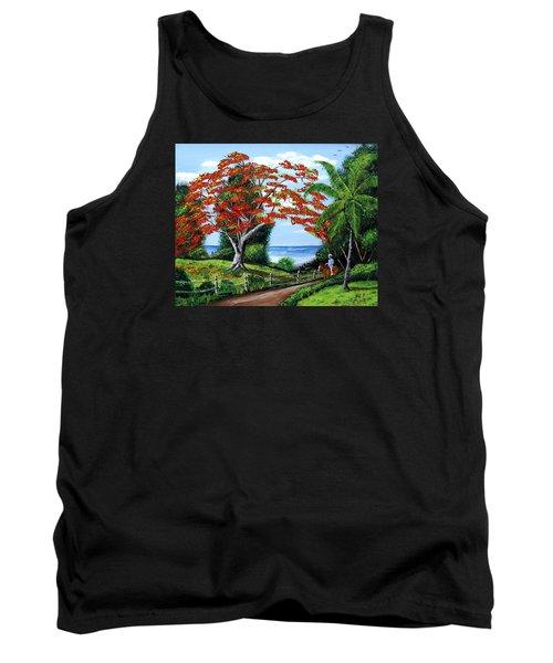 Tropical Landscape Tank Top by Luis F Rodriguez