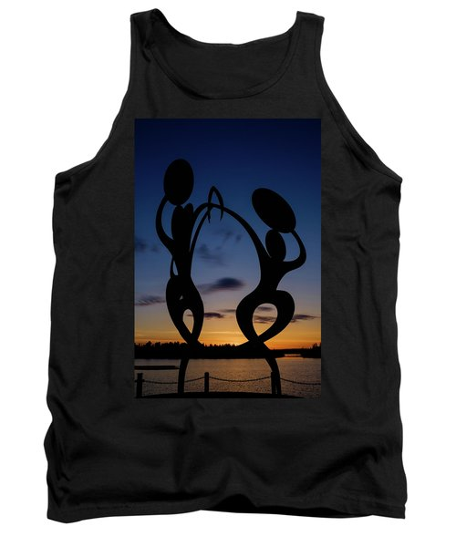 United In Celebration Sculpture At Sunset 5 Tank Top