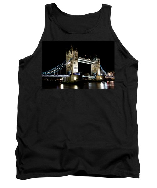 View Of The River Thames And Tower Bridge At Night Tank Top