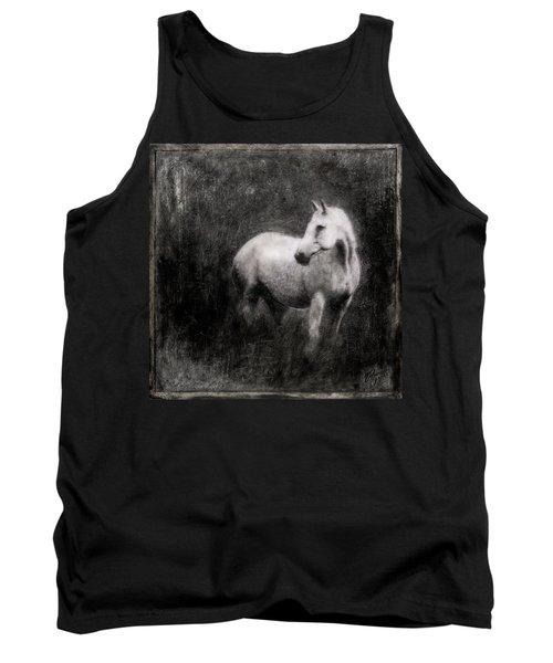 White Horse Tank Top by Roseanne Jones