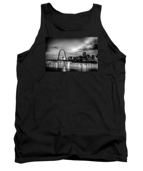 Tank Top featuring the photograph City Of St. Louis Skyline. Image Of St. Louis Downtown With Gate by Alex Grichenko