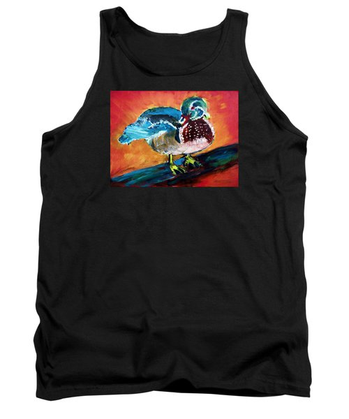 122215 Male Wood Duck Tank Top
