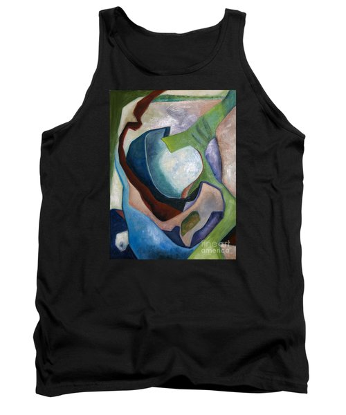 Tank Top featuring the painting 1319 Partial Recall by AnneKarin Glass
