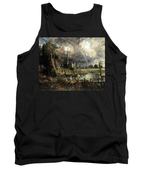 Salisbury Cathedral From The Meadows Tank Top