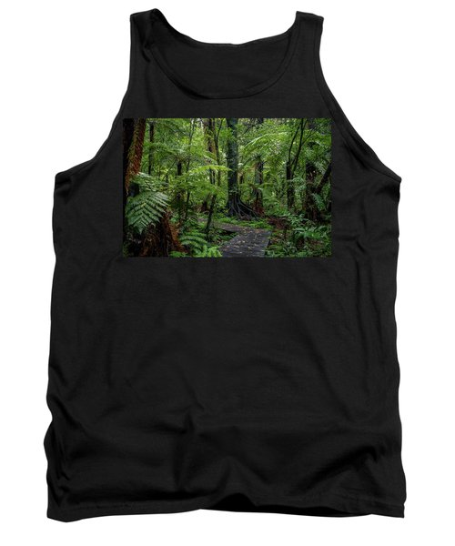 Tank Top featuring the photograph Forest Boardwalk by Les Cunliffe