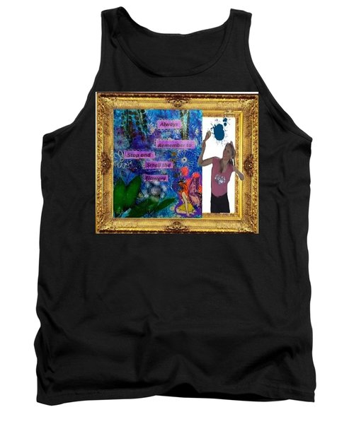 Tank Top featuring the digital art Cover Art For Gallery by Diana Riukas