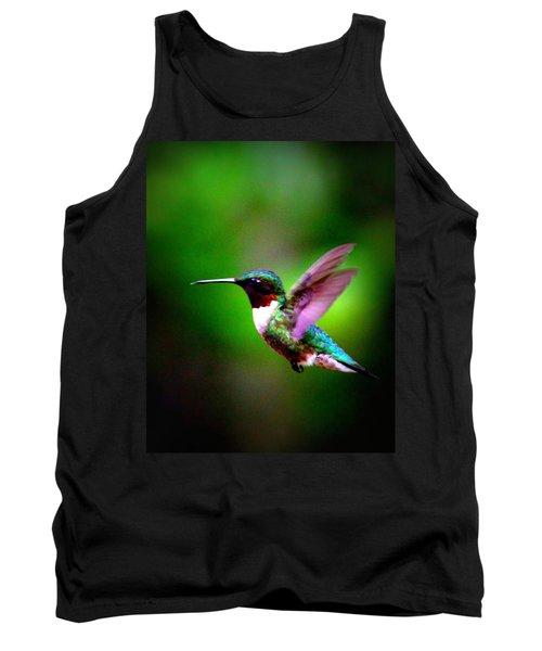 1846-007 - Ruby-throated Hummingbird Tank Top by Travis Truelove