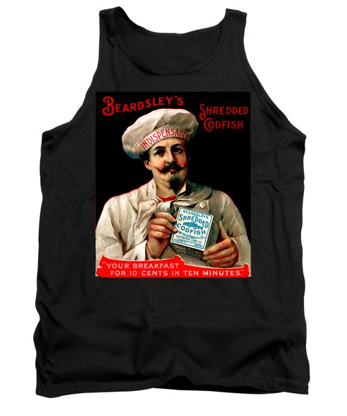 1895 Shredded Codfish Breakfast Tank Top by Historic Image
