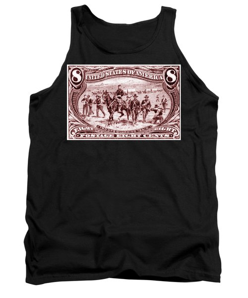 1898 Troops Guard Wagon Train Tank Top