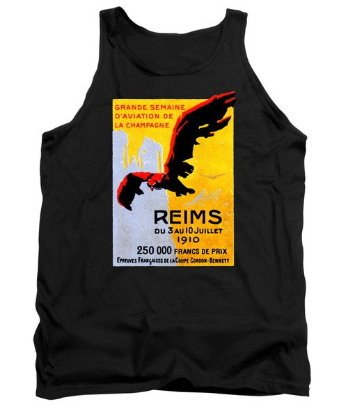 1910 Reims Air Show Tank Top by Historic Image