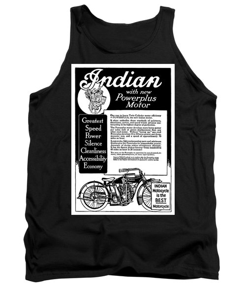 Tank Top featuring the digital art 1913 Indian Motorcycle Is The Best by Daniel Hagerman