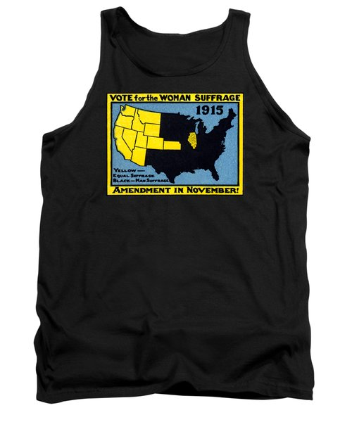 1915 Vote For Women's Suffrage Tank Top by Historic Image