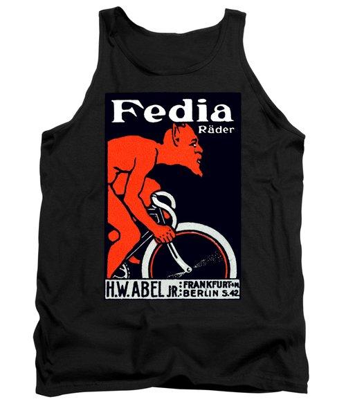 1920 Devil Riding A Bicycle Tank Top