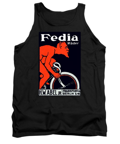 1920 Devil Riding A Bicycle Tank Top