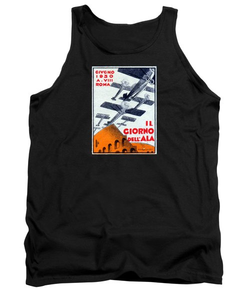 Tank Top featuring the painting 1930 Italian Air Show by Historic Image