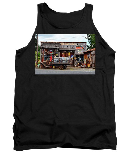 1930s Gas Station And Garage Tank Top by Ansel Price