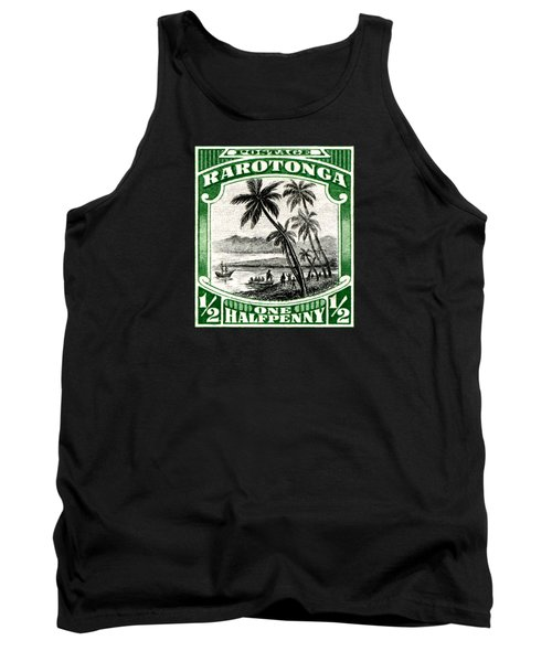 Tank Top featuring the painting 1932 Landing Of Captain Cook Stamp by Historic Image