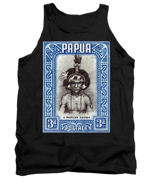 1932 Papuan Dandy Stamp Tank Top
