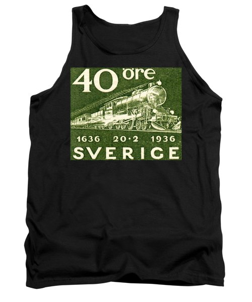 1936 Swedish Railroad Stamp Tank Top