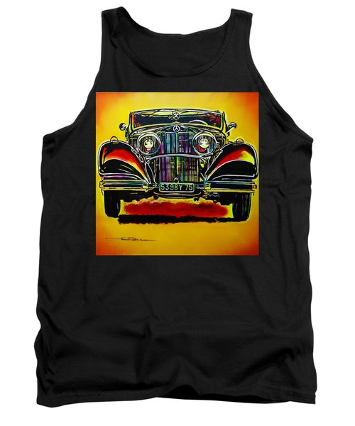 1937 Mercedes Benz First Wheel Down Tank Top by Eric Dee