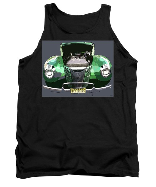 Tank Top featuring the photograph 1940 Ford by JoAnn Lense