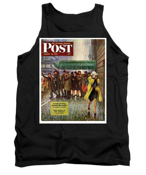 1947 Saturday Evening Post Magazine Cover Tank Top