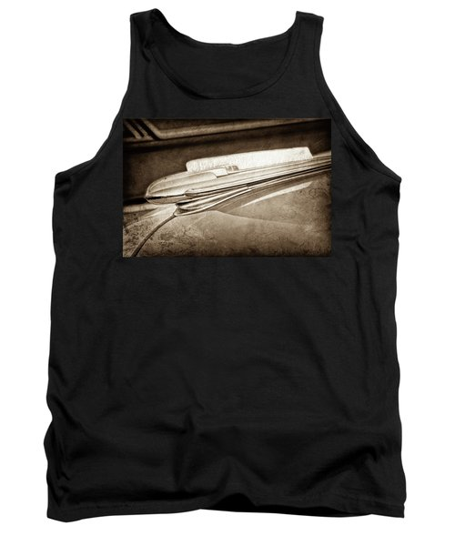 Tank Top featuring the photograph 1948 Chevrolet Hood Ornament -0587s by Jill Reger