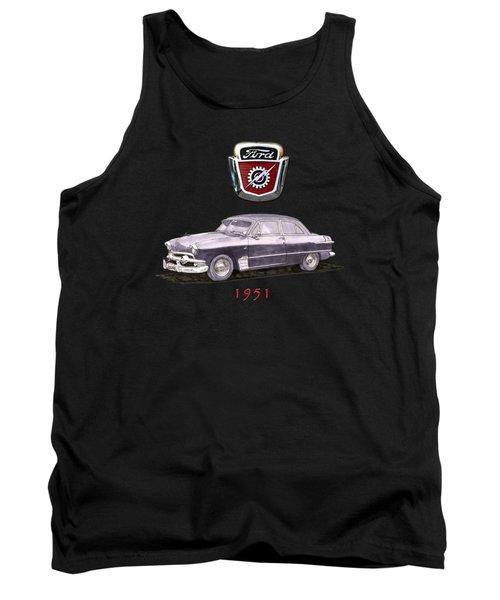 1951 Ford Two Door Sedan Tee Shirt Art Tank Top by Jack Pumphrey