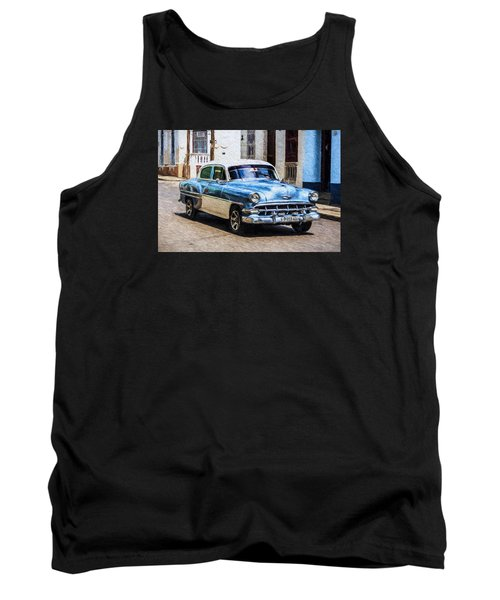 Tank Top featuring the photograph 1954 Chevy Cuba by Lou Novick