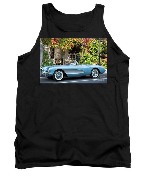 Tank Top featuring the photograph 1957 Corvette by Brian Jannsen