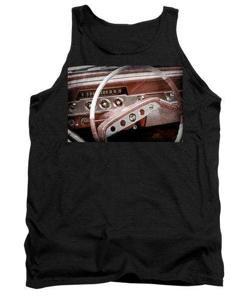 Tank Top featuring the photograph 1961 Chevrolet Impala Ss Steering Wheel Emblem -1156ac by Jill Reger