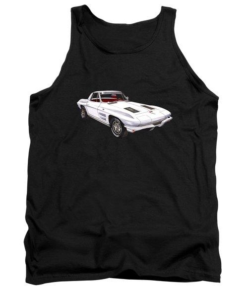 Corvette Sting Ray 1963 Tank Top by Jack Pumphrey