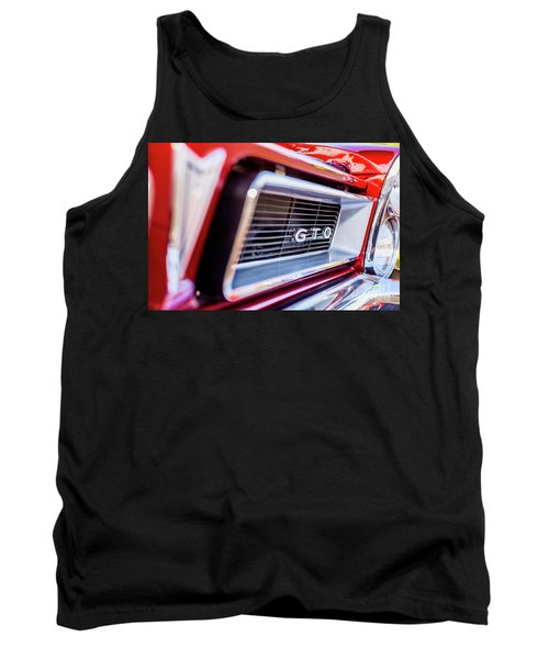 Tank Top featuring the photograph 1965 Red Gto Grill by Aloha Art