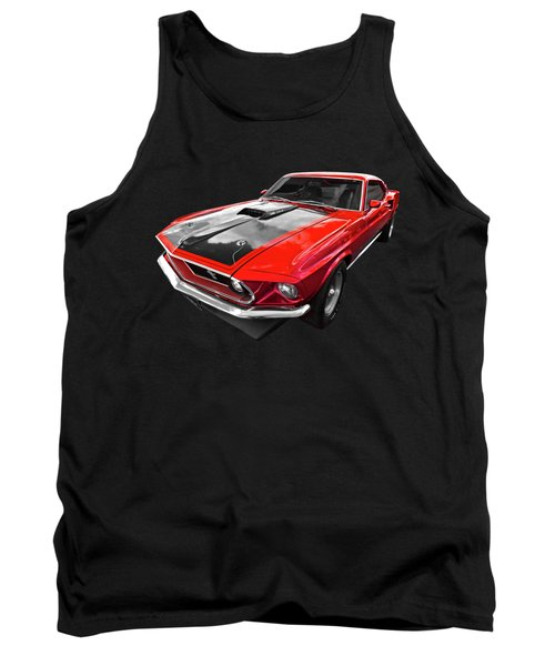 1969 Red 428 Mach 1 Cobra Jet Mustang Tank Top