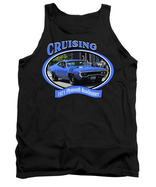 1971 Plymouth Roadrunner Hedman Tank Top by Mobile Event Photo Car Show Photography