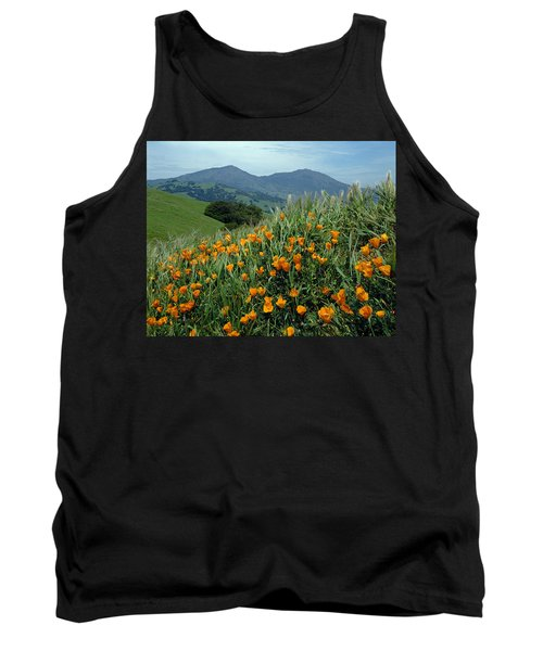 1a6493 Mt. Diablo And Poppies Tank Top