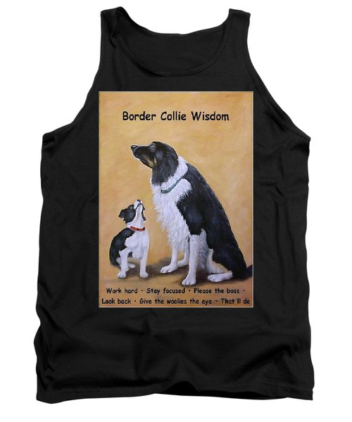 Border Collie Wisdom Tank Top