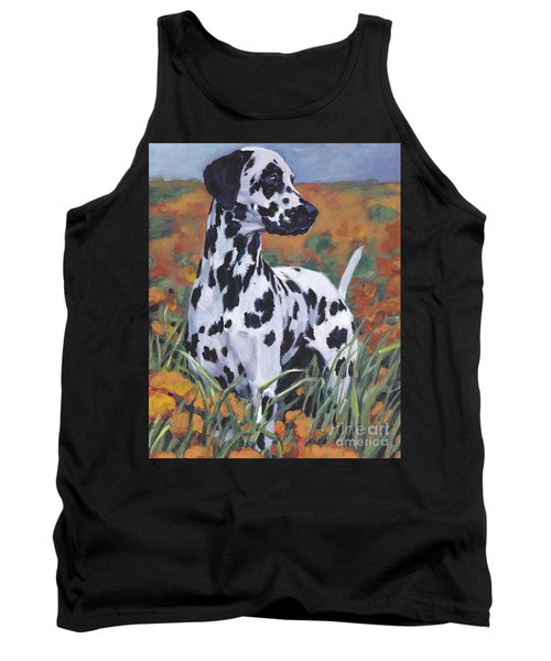 Tank Top featuring the painting Dalmatian by Lee Ann Shepard
