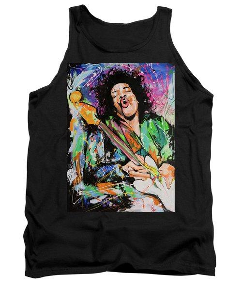 Jimi Hendrix Tank Top by Richard Day