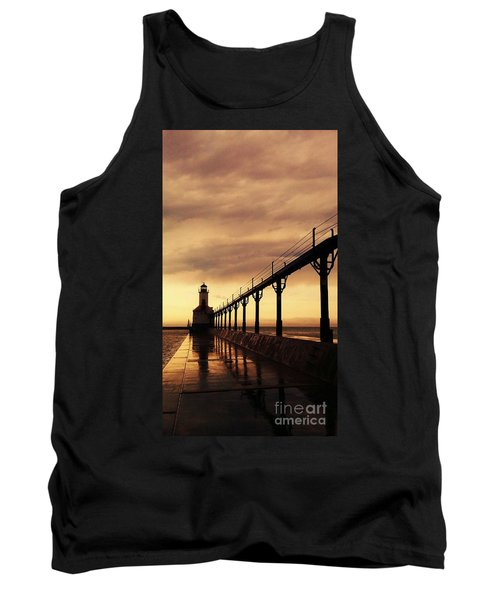 Michigan City Lighthouse Tank Top