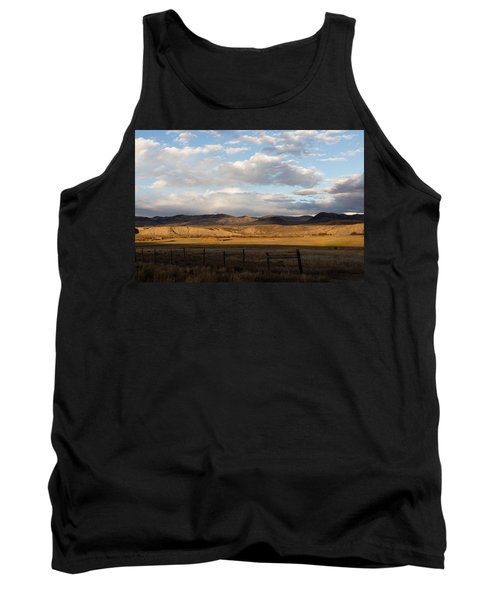 Mountain Meadow And Hay Bales In Grand County Tank Top by Carol M Highsmith