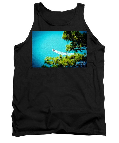 Pine Forest Over Sea Seascape Artmif.lv Tank Top