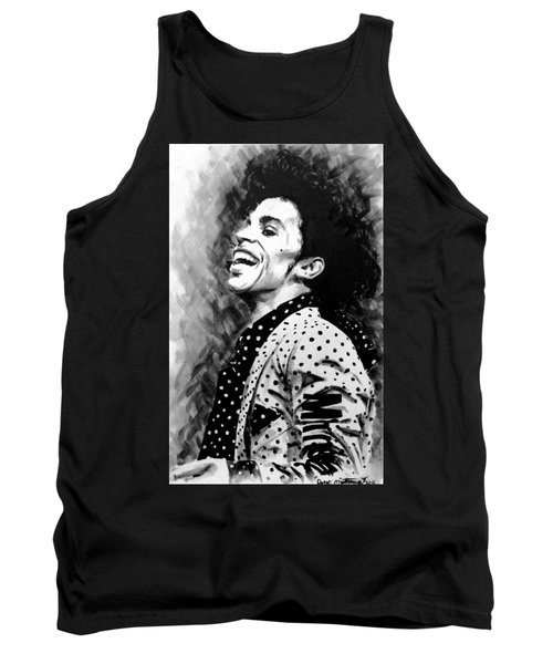 Tank Top featuring the painting Prince by Darryl Matthews