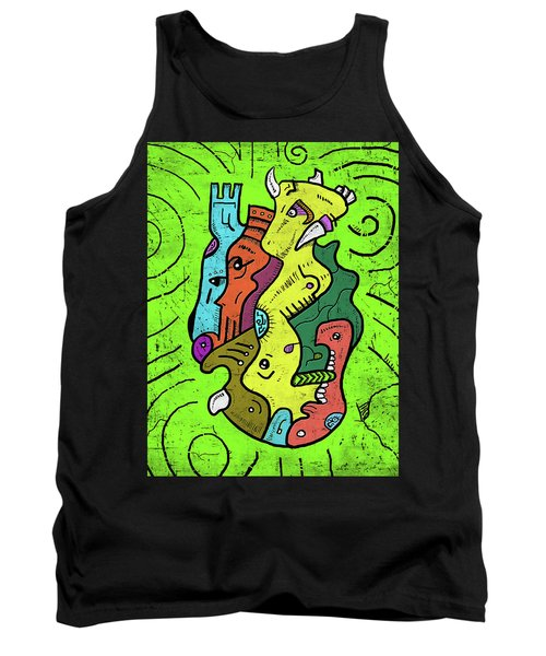 Psychedelic Animals Tank Top