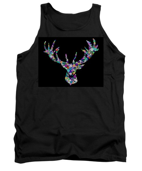 Reindeer Design By Snowflakes Tank Top