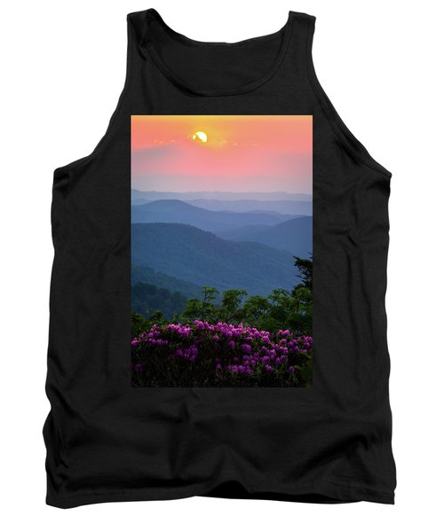 Roan Mountain Sunset Tank Top by Serge Skiba
