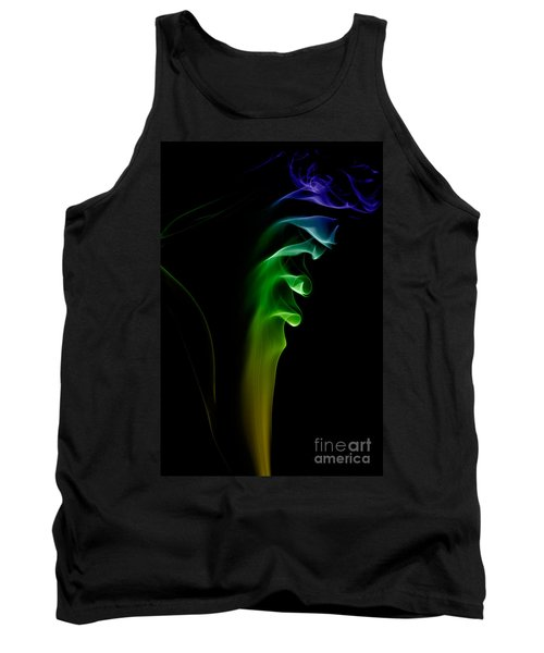 Tank Top featuring the photograph smoke XXVI by Joerg Lingnau