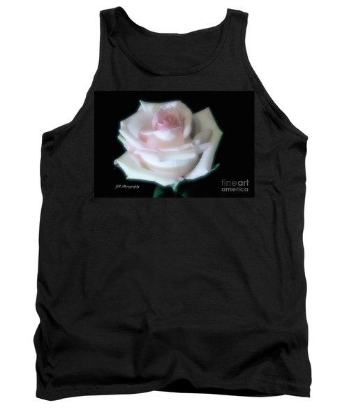 Soft Pink Rose Bud Tank Top by Jeannie Rhode